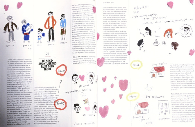 facing page of illustrations published articles 3/3