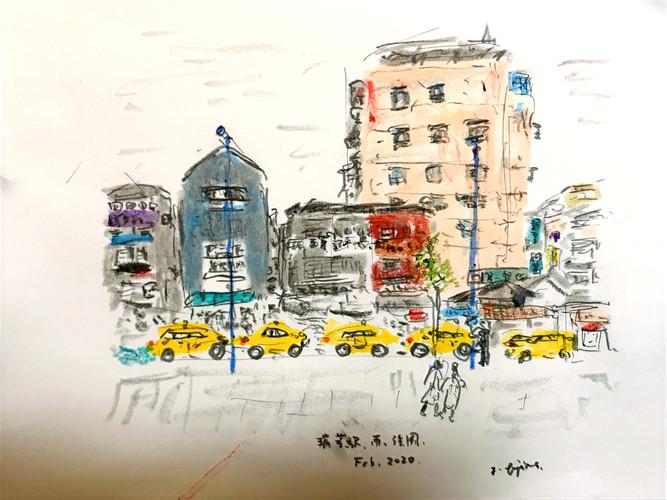 「around Rui-fang station,Taipei,Taiwan」(2020)