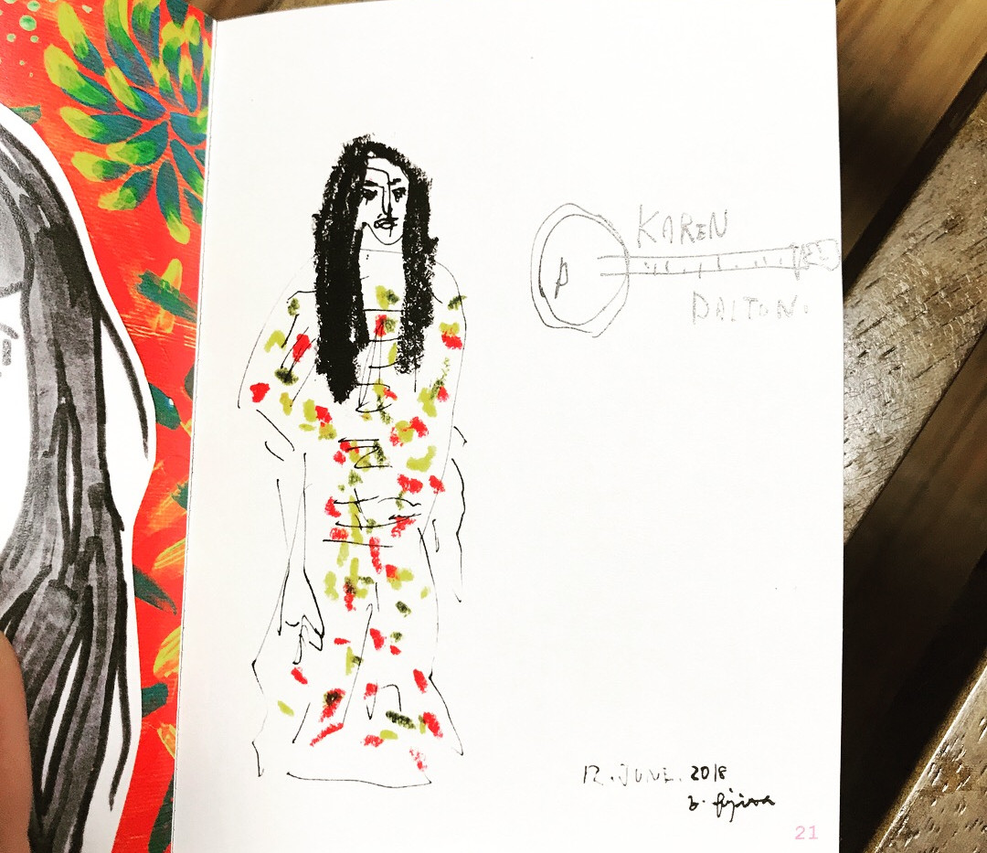 Karen Dalton's portrait drew by Yusuke Fujita(fujimi-ya)