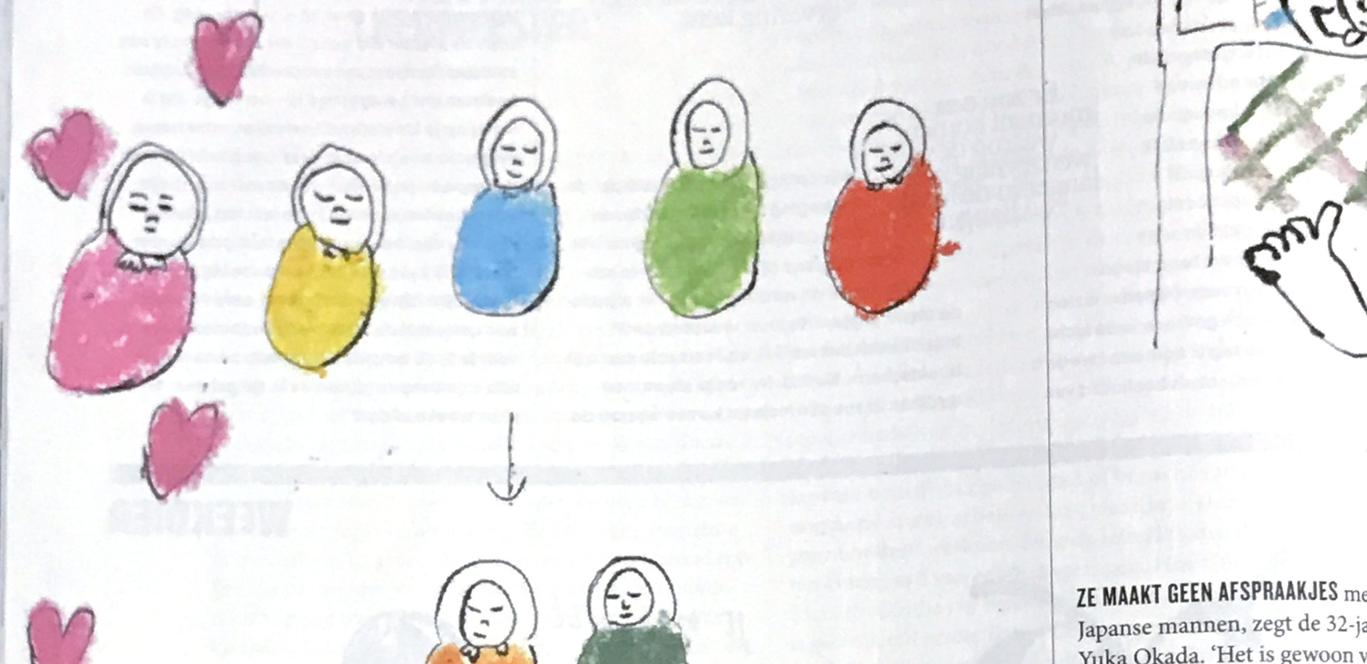 an illustration about Birth rates are declining year by year