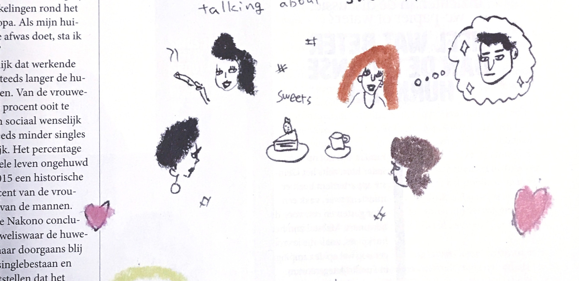 illustrations about the girls' association.