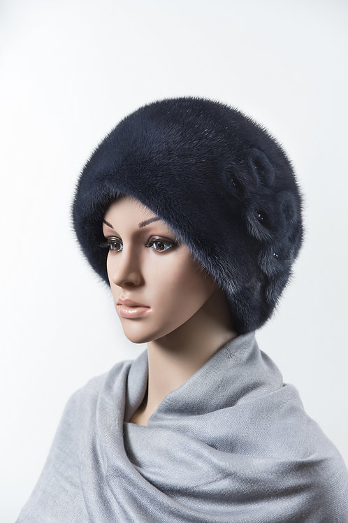 Женский головной убор из меха норки М410