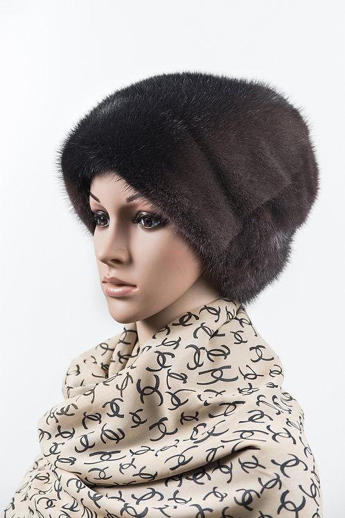 Женский головной убор из меха норки Бетти