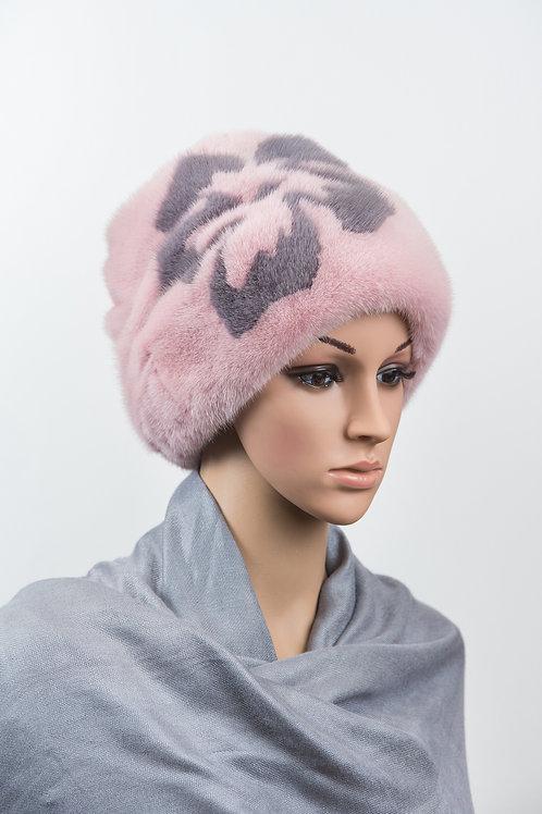 Женский головной убор из меха норки М413