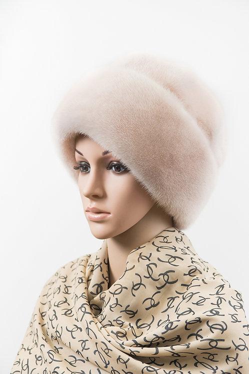Женский головной убор из меха норки М404