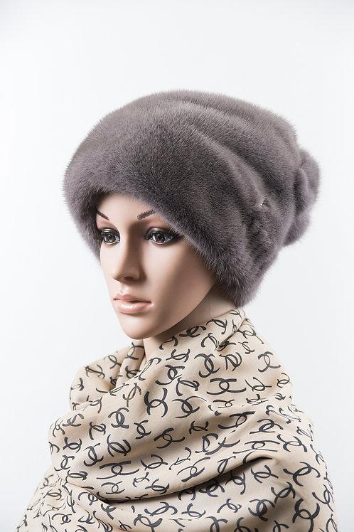 Женский головной убор из меха норки М278