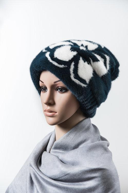 Женский головной убор из меха норки М407