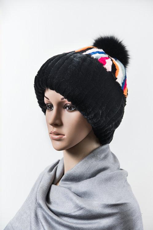 Женский головной убор из меха кролика Хельга