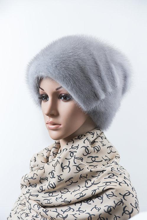 Женский головной убор из меха норки Лера