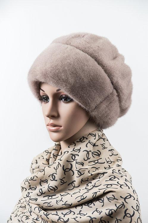 Женский головной убор из меха норки М345