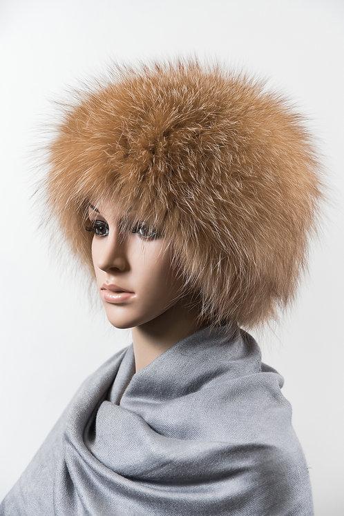 Женский головной убор из меха лисы М128