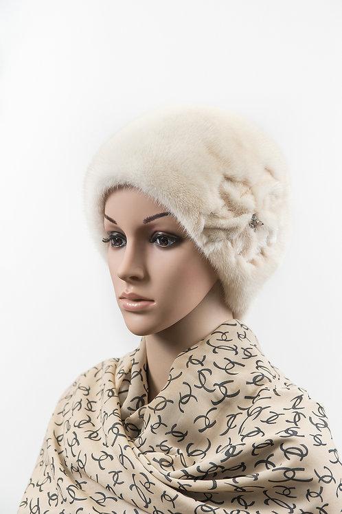Женский головной убор из меха норки М100