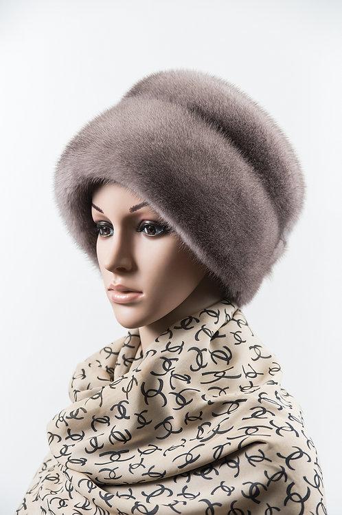 Женский головной убор из меха норки М284