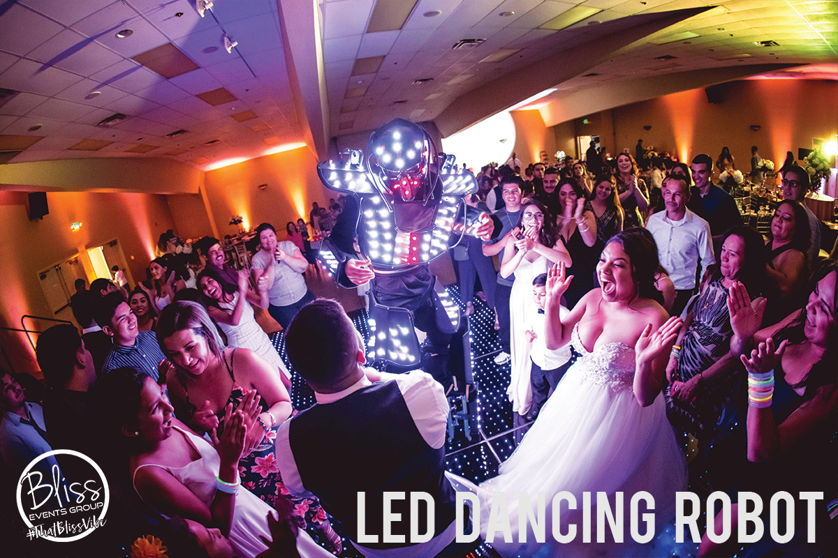 LED Dancing Robot Fresno DJ Wedding Blis