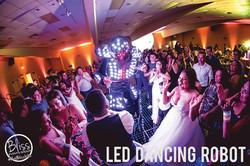 LED Dancing Robot Fresno DJ Wedding Blis
