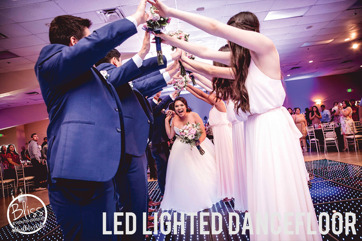 LED Lighted Dancefloor Fresno DJ Wedding