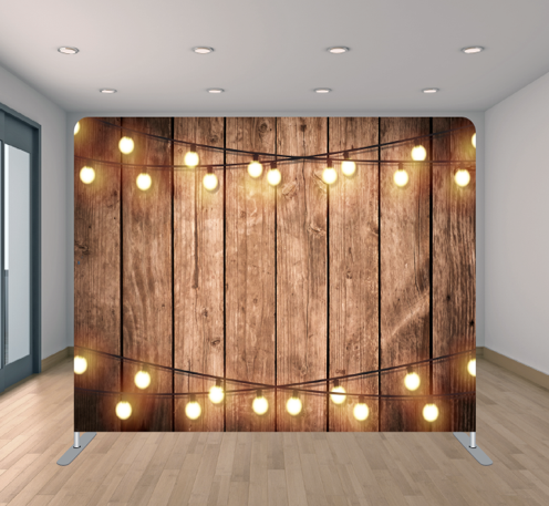 Wood Wall & Lights