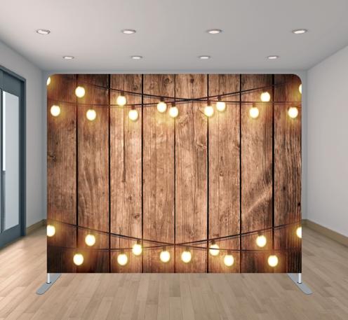 Wood Wall & Lights
