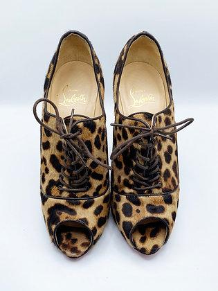 Christian Louboutin Leopard Peeptoe Heels