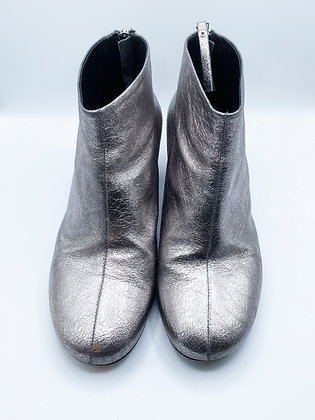 McQueen Silver Boots