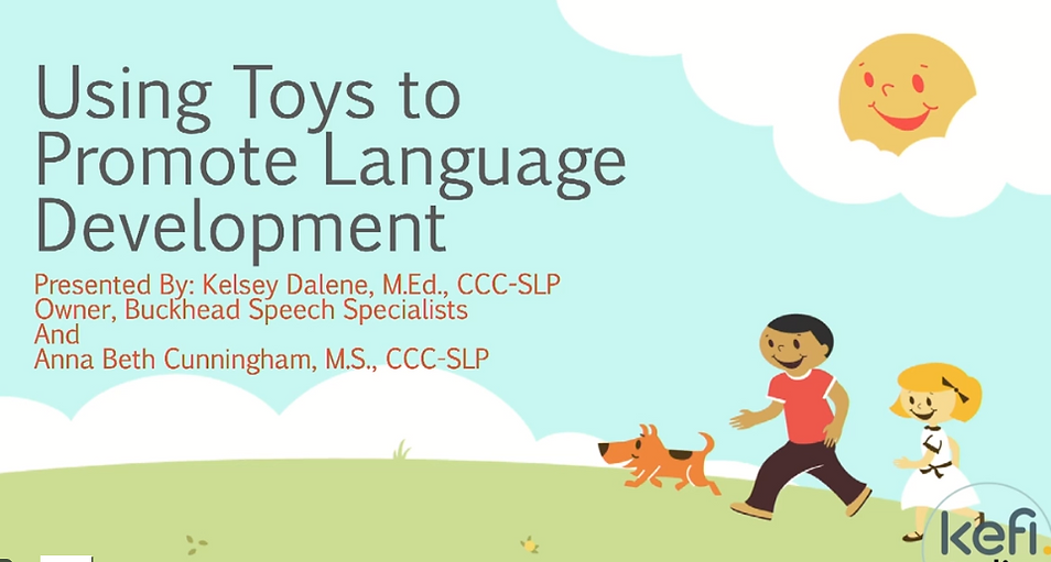Using Toys to Promote Language Development