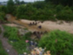 Pekanbaru Death Railway Bridge Remains at Logas Desa