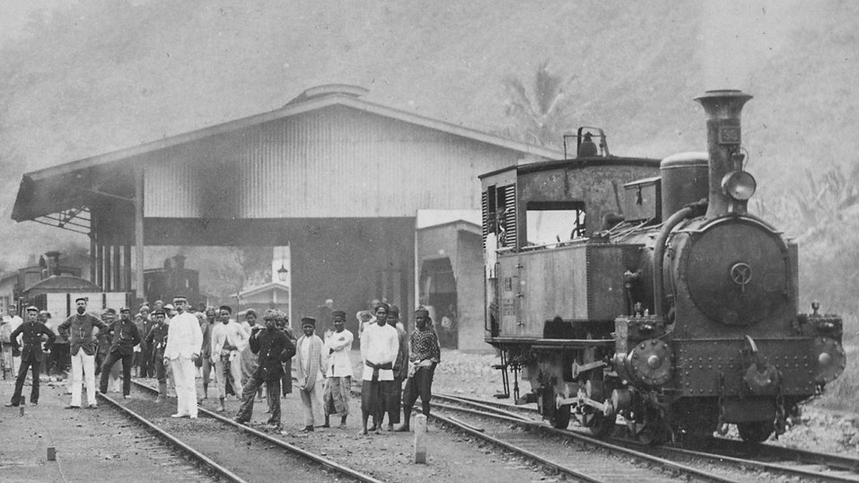 Steam Locomotive at Padang Panjang