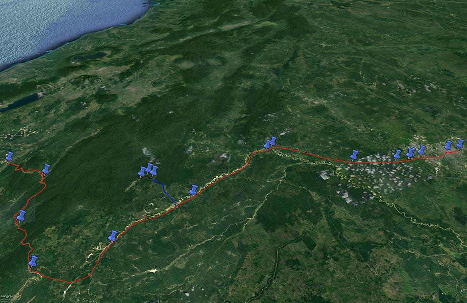 Pekanbaru death railway pow camp map