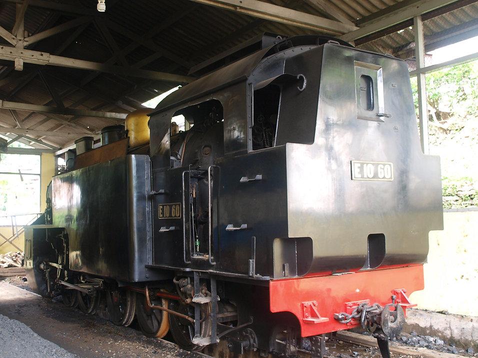 Sawahlunto railway museum steam locomotive