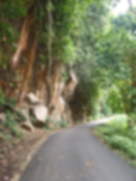 Peknbaru Death Railway Cuttings in Cliff