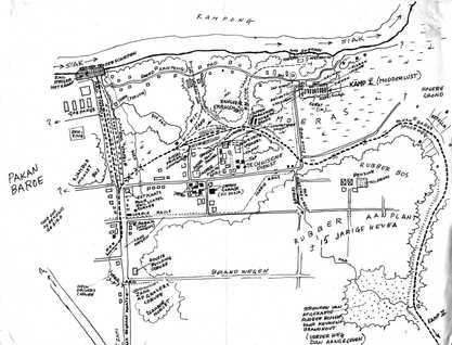 Pekanbaru WW2 Map