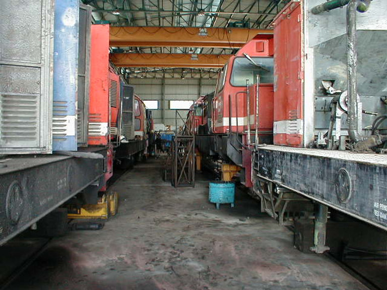 Padang Panjang locomotive servicing