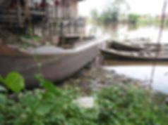 Coal barge in the Siak river from Sumatran death railway