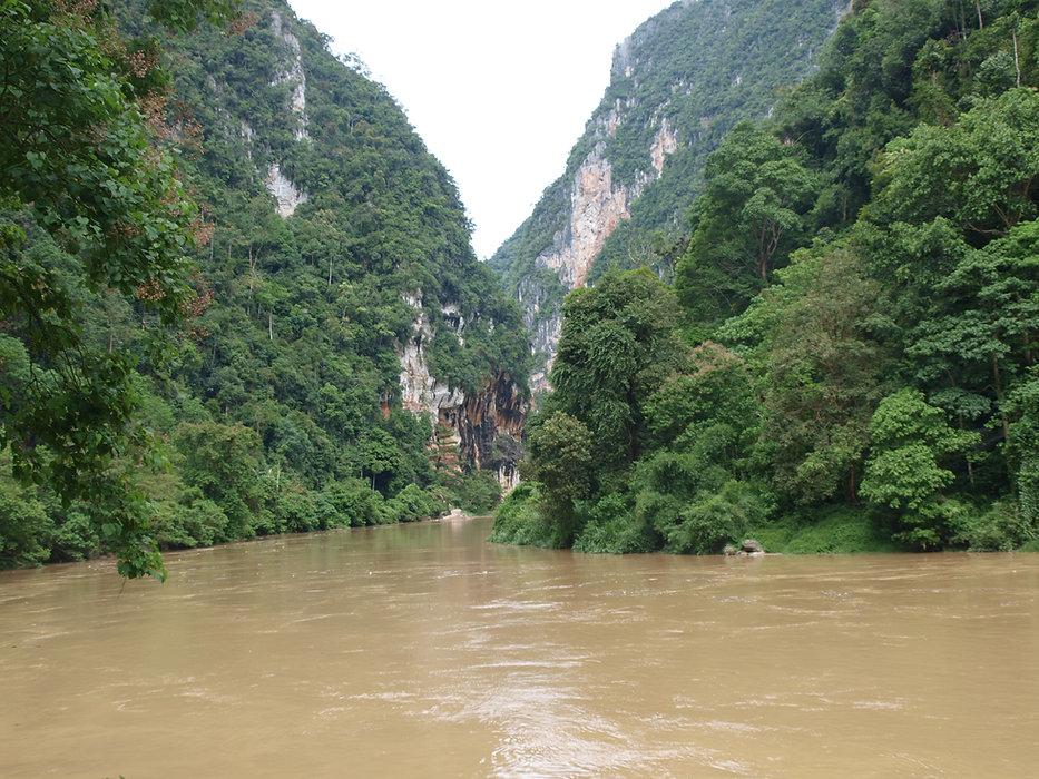 Kuantan river gorge outside Muaro