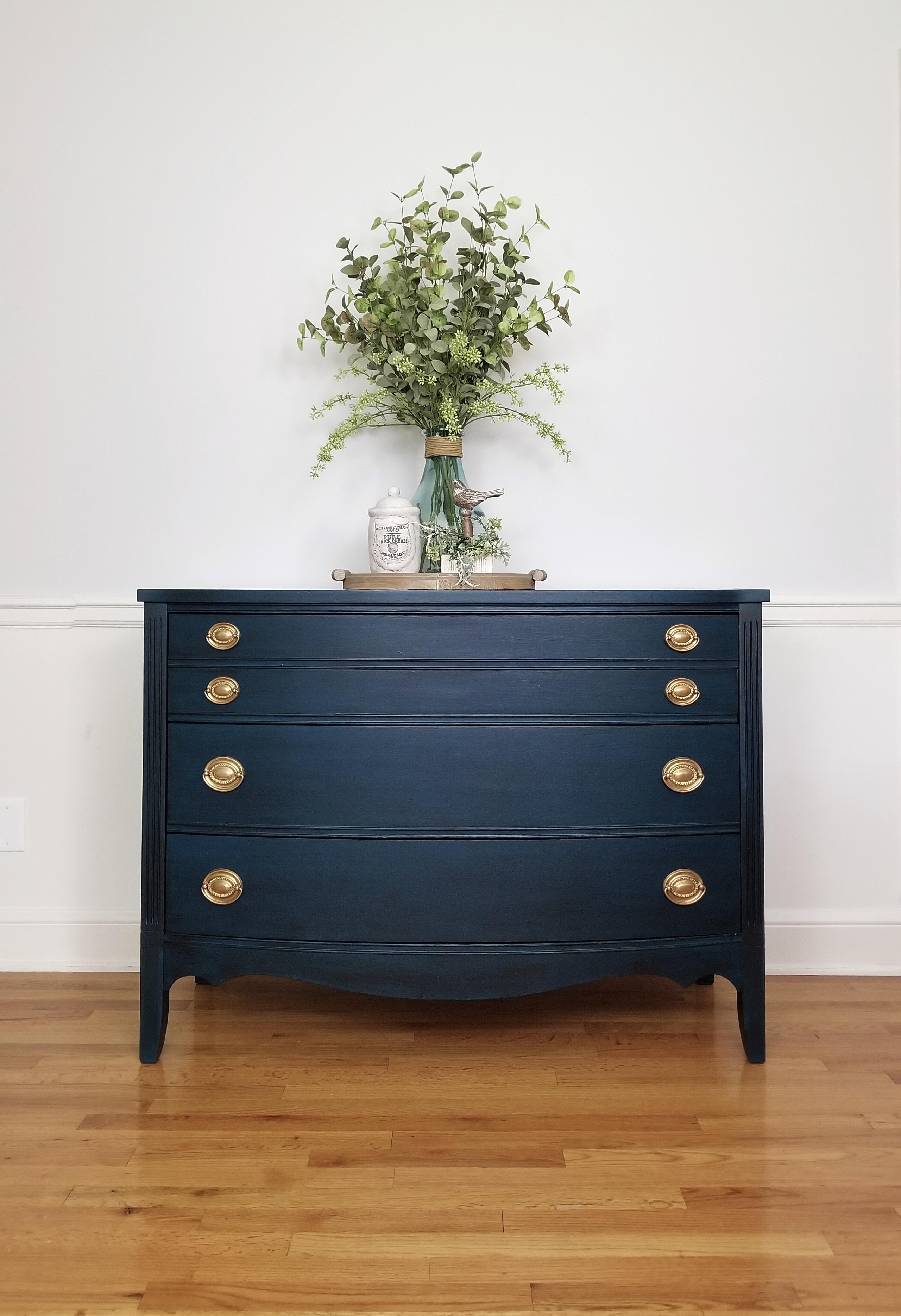 Dixie Dresser - Blue with Black Glaze