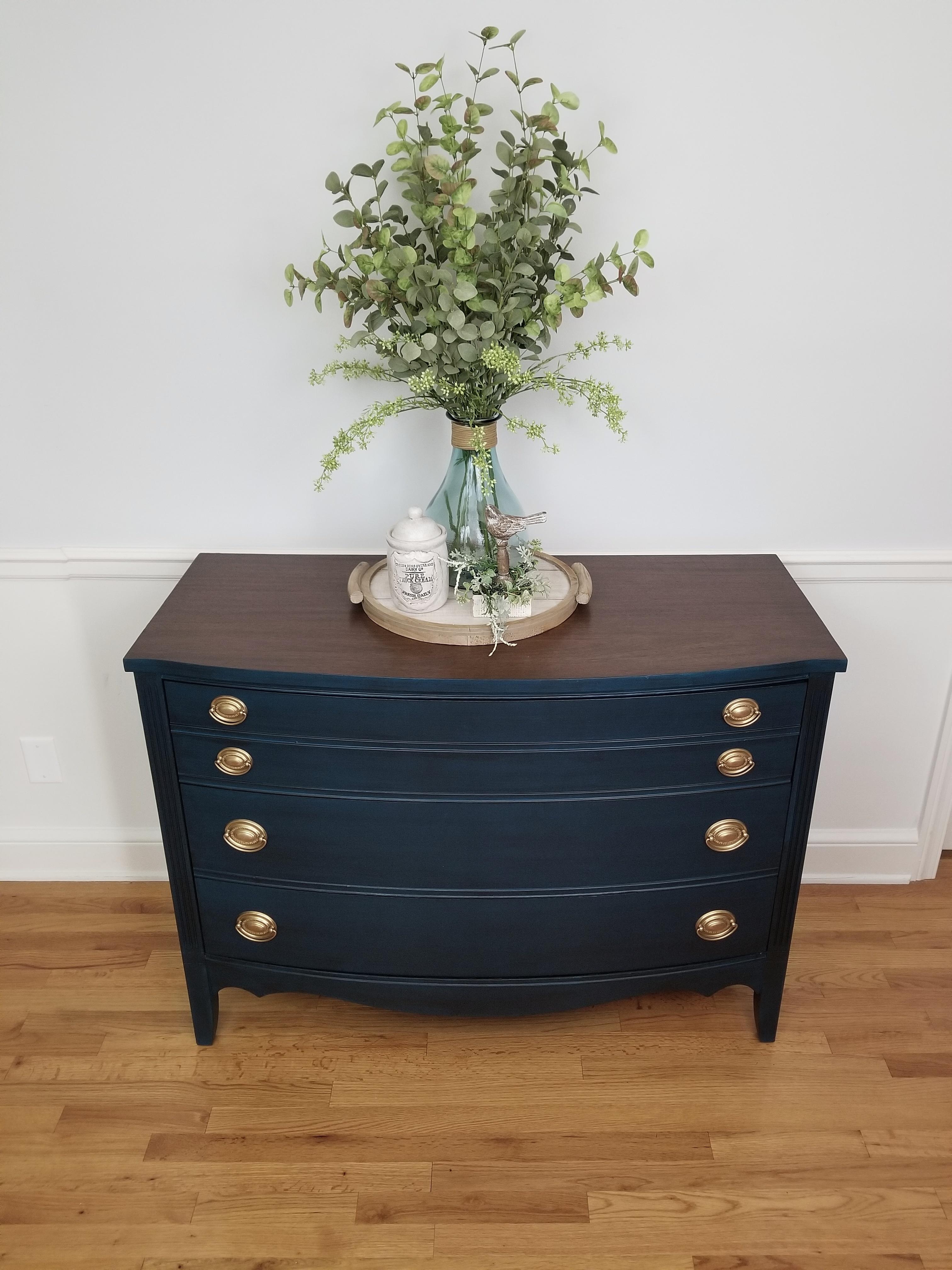 Dixie Dresser - Blue with Black Glaze -