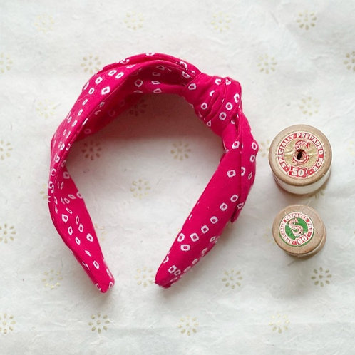 Head Band -hot pink bhandani