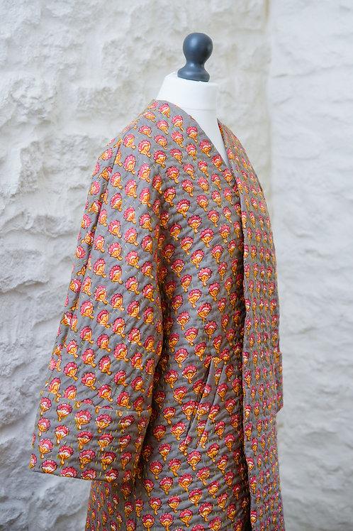 O'Keefe kimono - inspired coat - Floral Print