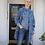 Thumbnail: O'Keefe kimono inspired coat - Indigo cloud
