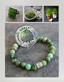 Green on Gray Bracelet