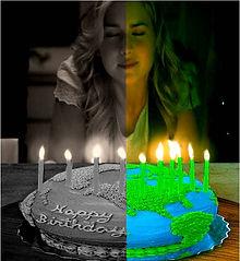 Green on Gray birthday