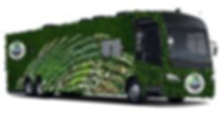 Green on Gray Bus advertise