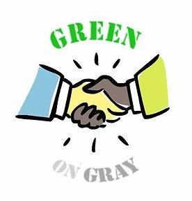 Green on Gray Handshake