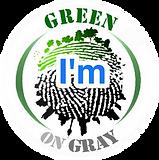 I am Green on Gray logo
