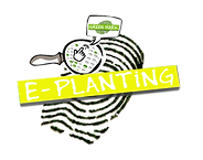 Green on Gray E-planting logo