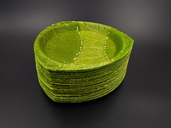 Amazing zero-waste bowls are made entirely from leaves.