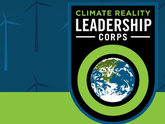 The Founder Analia Bordenave in Climate Reality Leadership Corps training.