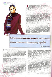 Shayma Exclusive Creations What women want magazine