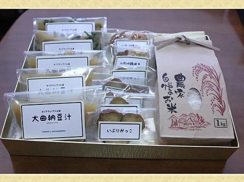 大曲納豆汁セット(小分け) 比内地鶏付き