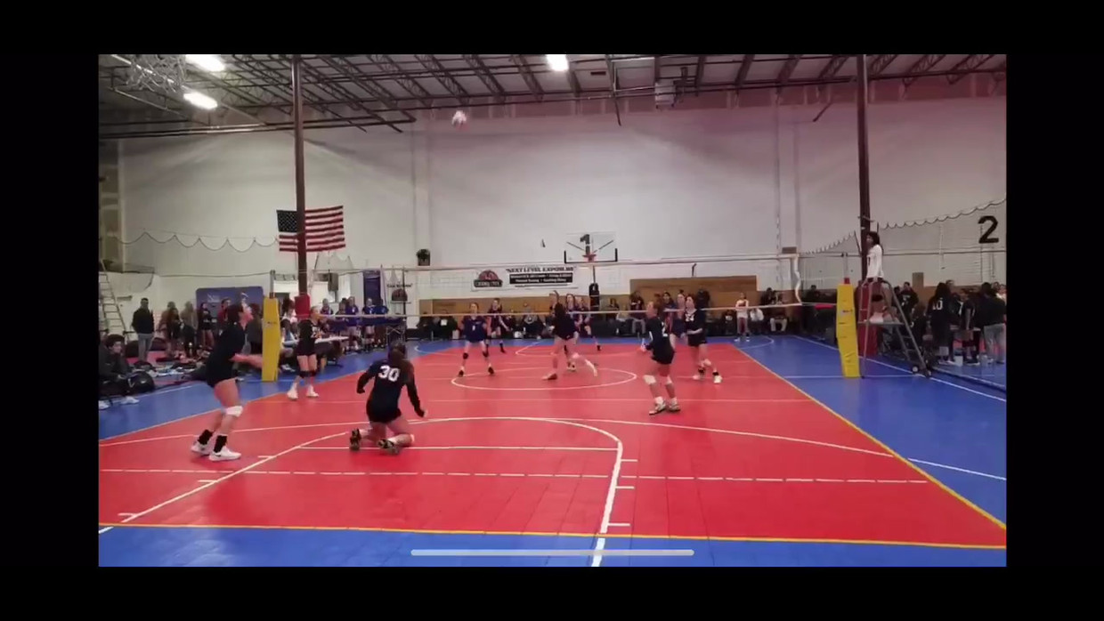 This is a video of some clips of Abbie playing volleyball, she is #24 and is the setter